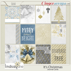 Its Christmas Journal Cards by Lindsay Jane