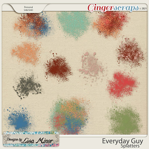 Everyday Guy Splatters from Designs by Lisa Minor