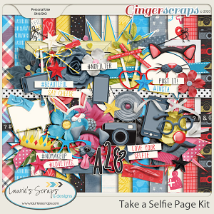 Take A Selfie Page Kit