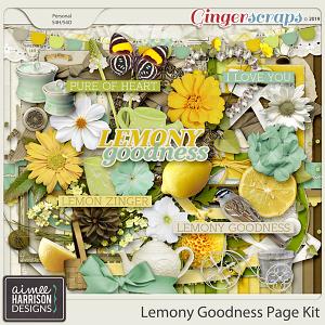 Lemony Goodness Page Kit by Aimee Harrison