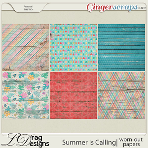 Summer Is Calling: Worn Out Papers by LDragDesigns