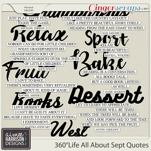 360°Life All About September Quotes by Aimee Harrison