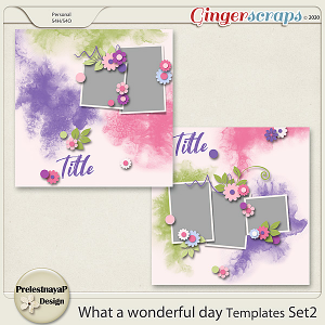 What a Wonderful day Templates Set2
