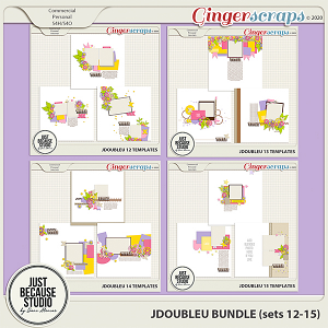 JDoubleU Templates Bundle (sets 12-15) by JB Studio