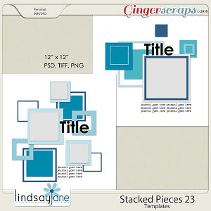 Stacked Pieces 23 Templates by Lindsay Jane