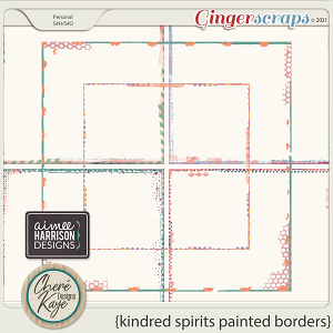 Kindred Spirits Painted Borders by Chere Kaye Designs and Aimee Harrison