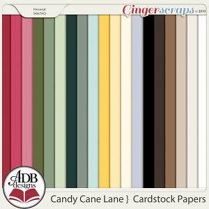 Candy Cane Lane Solid Papers by ADB Designs