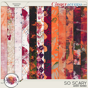 So Scary - Artsy Papers - by Neia Scraps