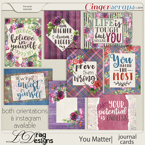 You Matter: Journal Cards by LDragDesigns