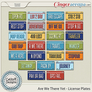 Are We There Yet - License Plates