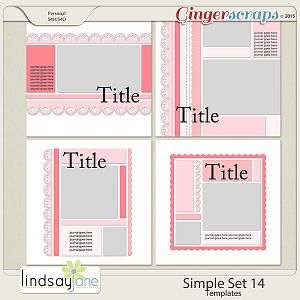 Simple Set 14 Templates by Lindsay Jane