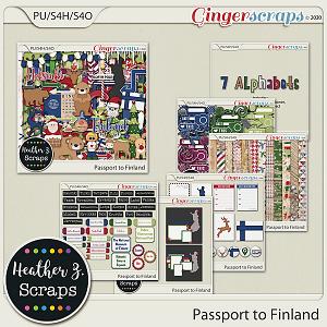 Passport to Finland BUNDLE by Heather Z Scraps