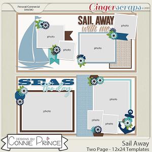 Sail Away - 24x12 Templates (CU Ok) by Connie Prince