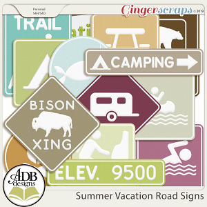Summer Vacation Road Signs by ADB Designs