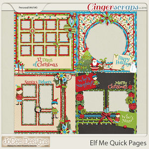 Elf Me Quick Pages by JoCee Designs