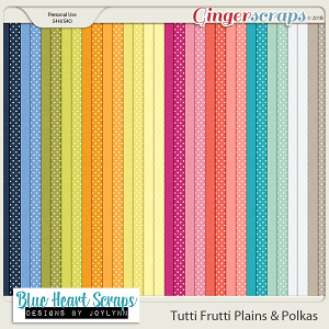 Tutti Frutti Plain & Polka Papers