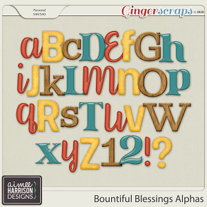 Bountiful Blessings Alpha Sets by Aimee Harrison