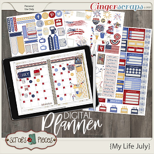 My Life July Planner Pieces - Scraps N Pieces