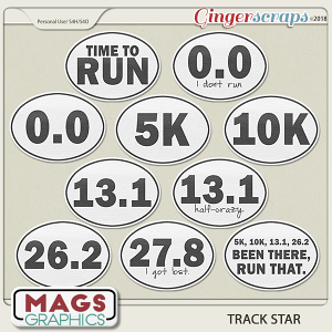 Track Star STICKERS by MagsGraphics