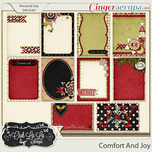 Comfort And Joy Journal and Pocket Scrapbooking Cards