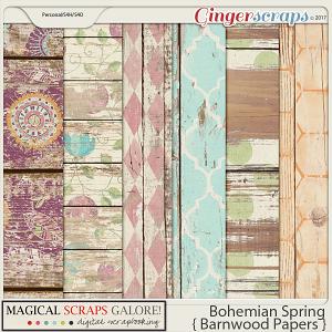 Bohemian Spring (barnwood papers)