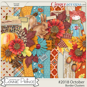 #2018 October - Border Clusters by Connie Prince