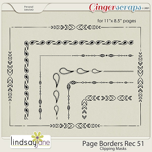 Page Borders Rec 51 by Lindsay Jane