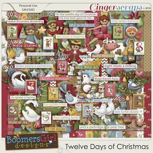 Twelve Days of Christmas by BoomersGirl Designs