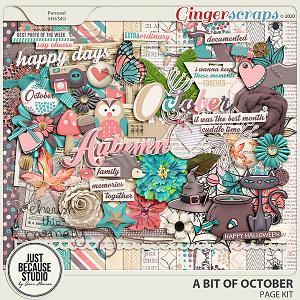 A Bit of October Page Kit by JB Studio