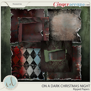 On A Dark Christmas Night Ripped Papers by Ilonka's Designs