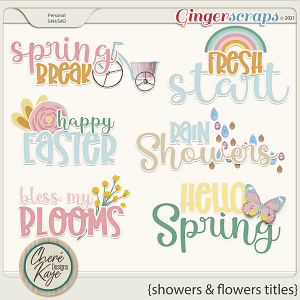 Showers and Flowers Titles by Chere Kaye Designs