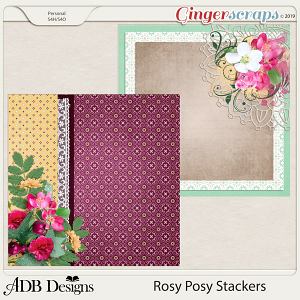Rosy Posy Stackers by ADB Designs