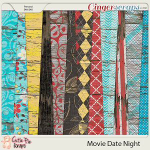 Movie Date Night Wood Papers