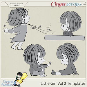 Doodles By Americo: Little Girl Vol 2 Templates