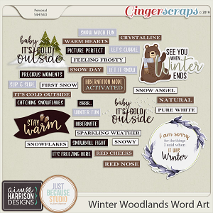 Winter Woodlands Word Art by Aimee Harrison and JB Studio