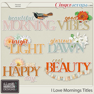 I Love Mornings Titles by Aimee Harrison