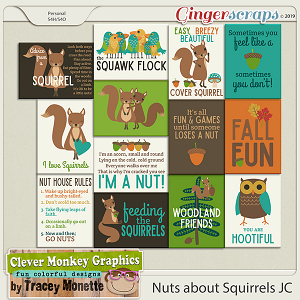 Nuts About Squirrels Journal Cards by Clever Monkey Graphics