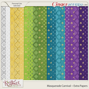 Masquerade Carnival Extra Papers