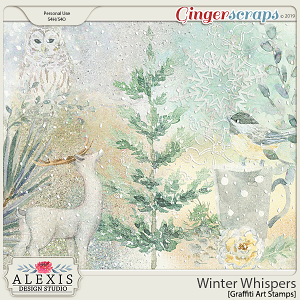 Winter Whispers - Graffiti Art Stamps