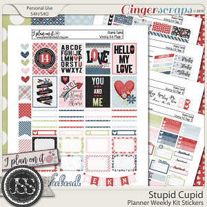Stupid Cupid Planner Weekly Kit
