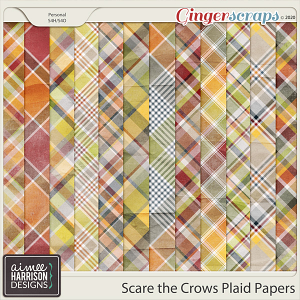 Scare the Crows Plaid Papers by Aimee Harrison