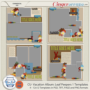 CU - Vacation Album: Leaf Peepers 1 by Miss Fish Templates