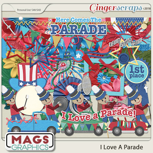 I Love A Parade ELEMENTS by MagsGraphics