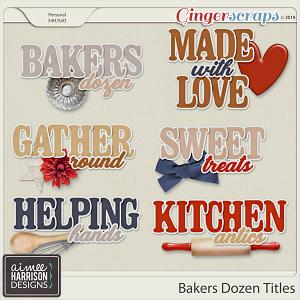 Bakers Dozen Titles by Aimee Harrison