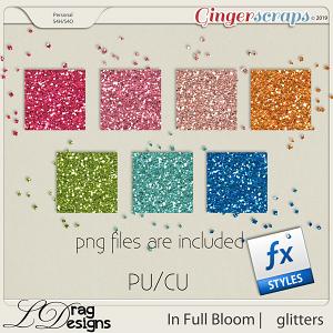 In Full Bloom: Glitterstyles by LDragDesigns