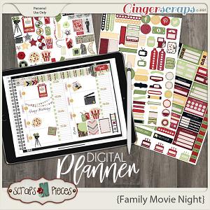 Family Movie Night Planner Pieces- Scraps N Pieces