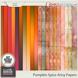 Pumpkin Spice Artsy Papers by Aimee Harrison and JB Studio