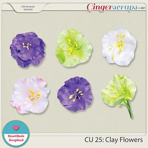CU 25 - Clay flowers