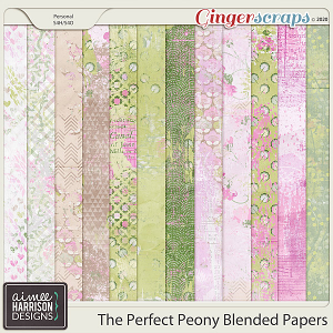 The Perfect Peony Blended Papers by Aimee Harrison