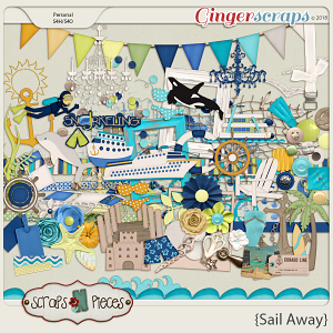 Sail Away Embellishments by Scraps N Pieces